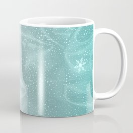 Blue Snow WInter Background Coffee Mug