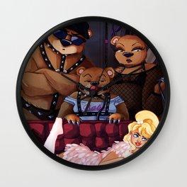 Goldiloxxx and the Three Bears Wall Clock