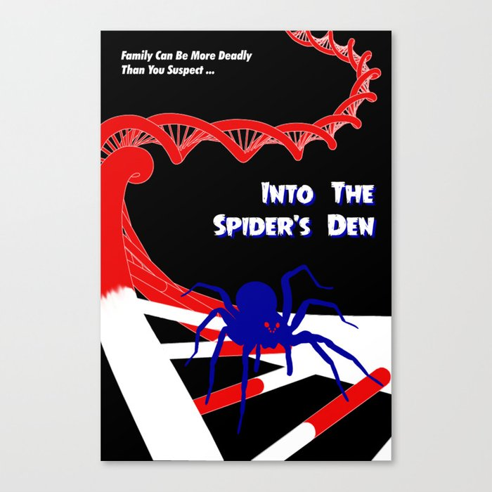 Pulp-Style Novel Cover - Into the Spider's Den Canvas Print