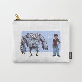 A Girl and her Robot Carry-All Pouch