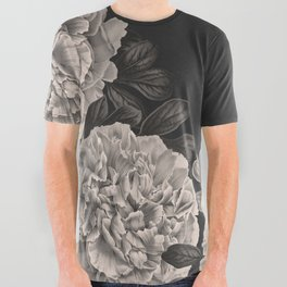 Flowers on a winter night All Over Graphic Tee