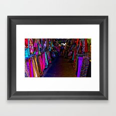 How Bazaar (Neon) Framed Art Print
