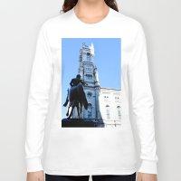philadelphia Long Sleeve T-shirts featuring Onward (Philadelphia) by Julie Maxwell