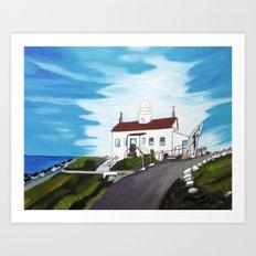 Battery point Lighthouse ( Crescent City, CA ) Art Print
