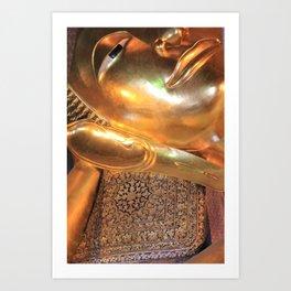 reclining buddha, a little closer Art Print