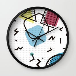 Modernistic abstract shape pattern texture Wall Clock