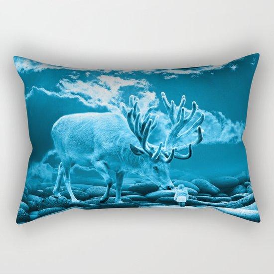Big Deer Rectangular Pillow