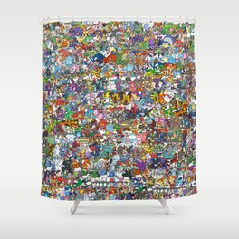pokeman Shower Curtain