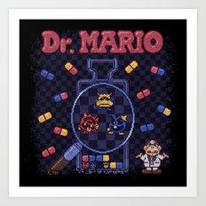 Mario Doctor Art Print