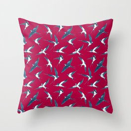 The Swallows Are Back Throw Pillow