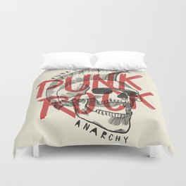 Punk Rock Skull Duvet Cover