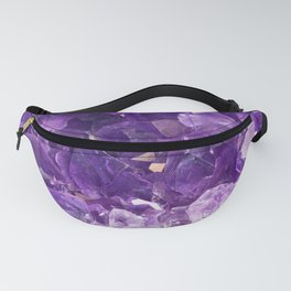 Purple Amethyst Crystal Fanny Pack