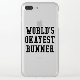 World's Okayest Runner Clear iPhone Case