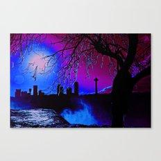 pink sky :o Canvas Print