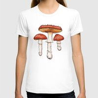 mushrooms T-shirts featuring Mushrooms by CHAR ODEN