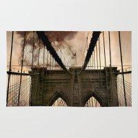 bridge Area & Throw Rugs featuring Bridge by Daniela Battaglioli