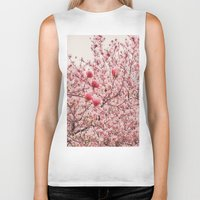 cherry blossoms Biker Tanks featuring Cherry Blossoms by Vivienne Gucwa