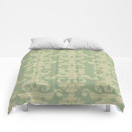 Pattern - Green Chevron Desmask Comforters