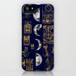 beautiful pagan themed tarot print iPhone Case