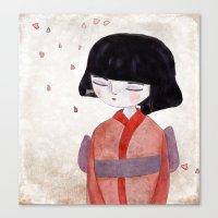 sakura Canvas Prints featuring Sakura by munieca