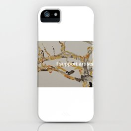 I Support Artists Notebook and Travel Mug iPhone Case