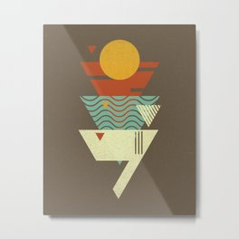 Sun. Sea. Sand. Shark. Metal Print