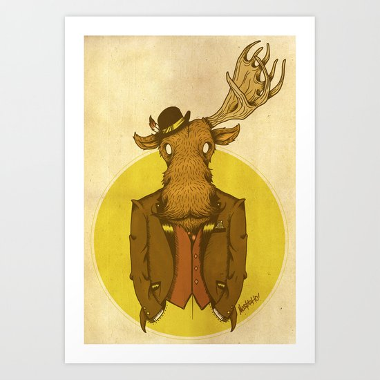 {Bosque Animal} Alce Art Print