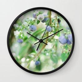 Blueberry Days Wall Clock