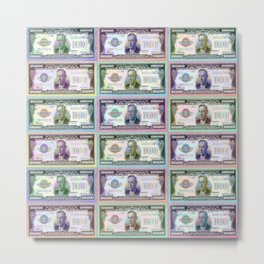 180 Million Dollars Money Bling Cash Dollar Bills Metal Print