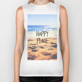 Happy Place Beach Biker Tank