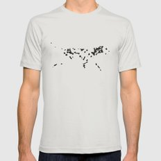 Spots Mens Fitted Tee Silver LARGE