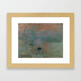 Claude Monet - Impression, Sunrise Framed Art Print