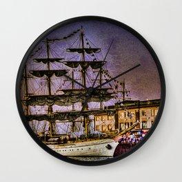 """Tall Ship """"Mircea"""" Wall Clock"""