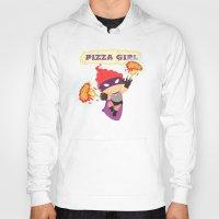 superheros Hoodies featuring Pizzagirl by Alapapaju