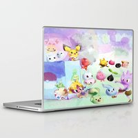 digimon Laptop & iPad Skins featuring Baby Monsters by Minty Cocoa