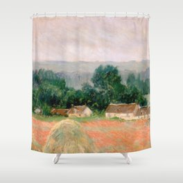 Haystack at Giverny by Claude Monet Shower Curtain