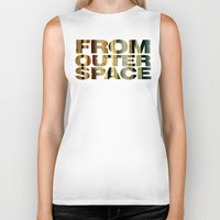 outer space Biker Tanks featuring from outer space by sustici