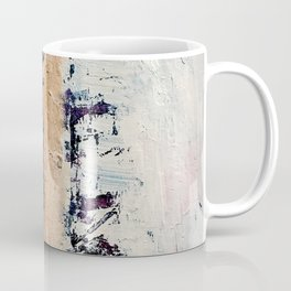 Artemis: A pretty, minimal, abstract mixed media piece in blue, gold, pink, purple, and white Coffee Mug