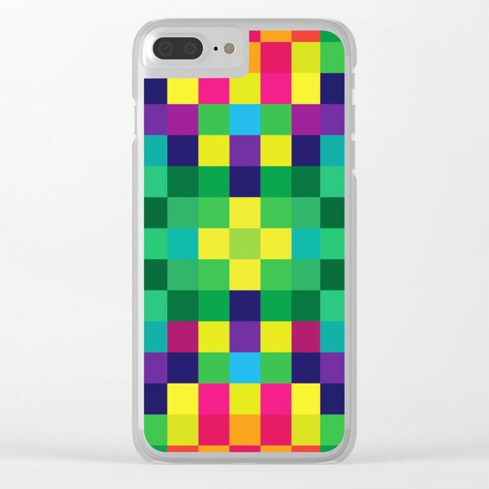 Colorful Geometric Background II Clear iPhone Case