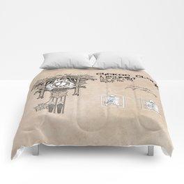 Cuckoo clock patent art Comforters