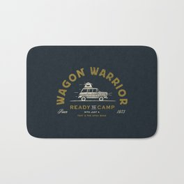 """Wagon Warrior"" Jeep Camping (moss) Bath Mat"