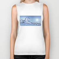 rogue Biker Tanks featuring Rogue Wave by John Early