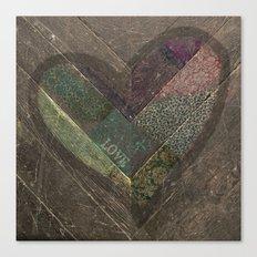 Weathered Love Canvas Print