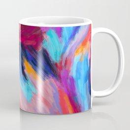Bright Abstract Brushstrokes Coffee Mug