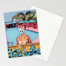 Kitty pool Stationery Cards