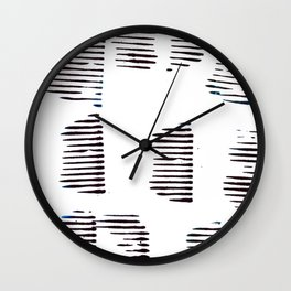 Rolled lines Wall Clock