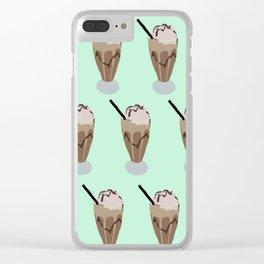 Milkshake green Clear iPhone Case