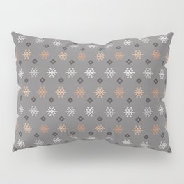Boho Baby // Middle Eastern Metallic // Scorpion Symbol + Geometric Floral in Charcoal Pillow Sham