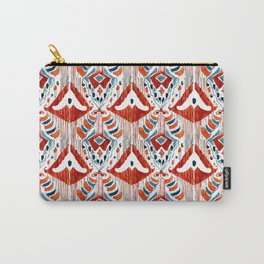 red bali ikat mini Carry-All Pouch