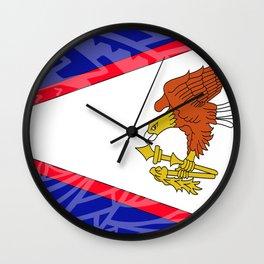 American Samoa Flag Wall Clock